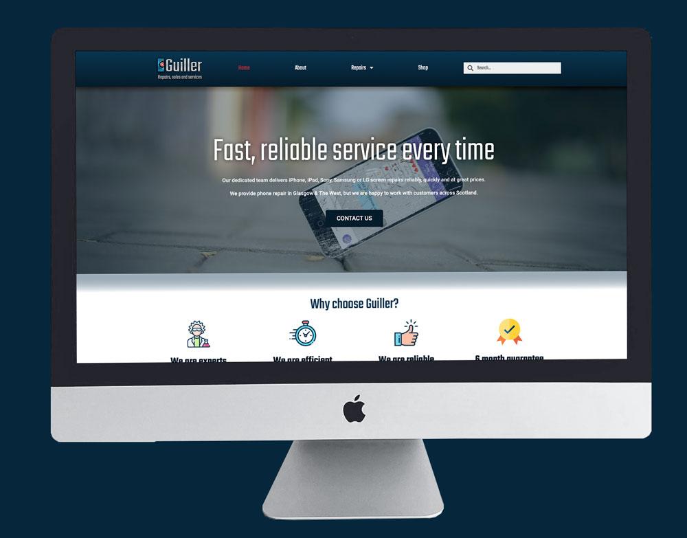 Guiller Mobile Repairs Website Consulting