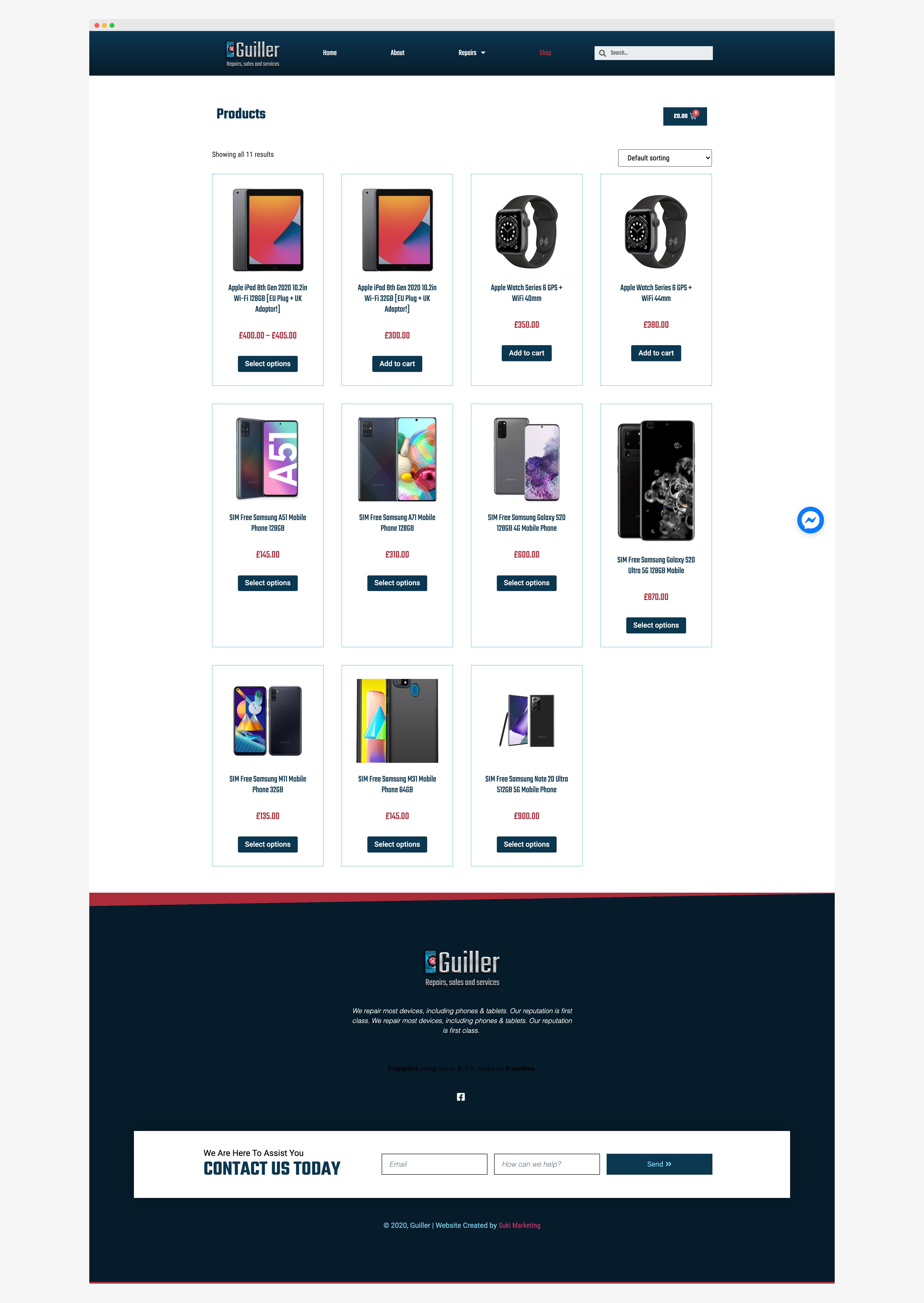 Ecommerce Web Design Guiller