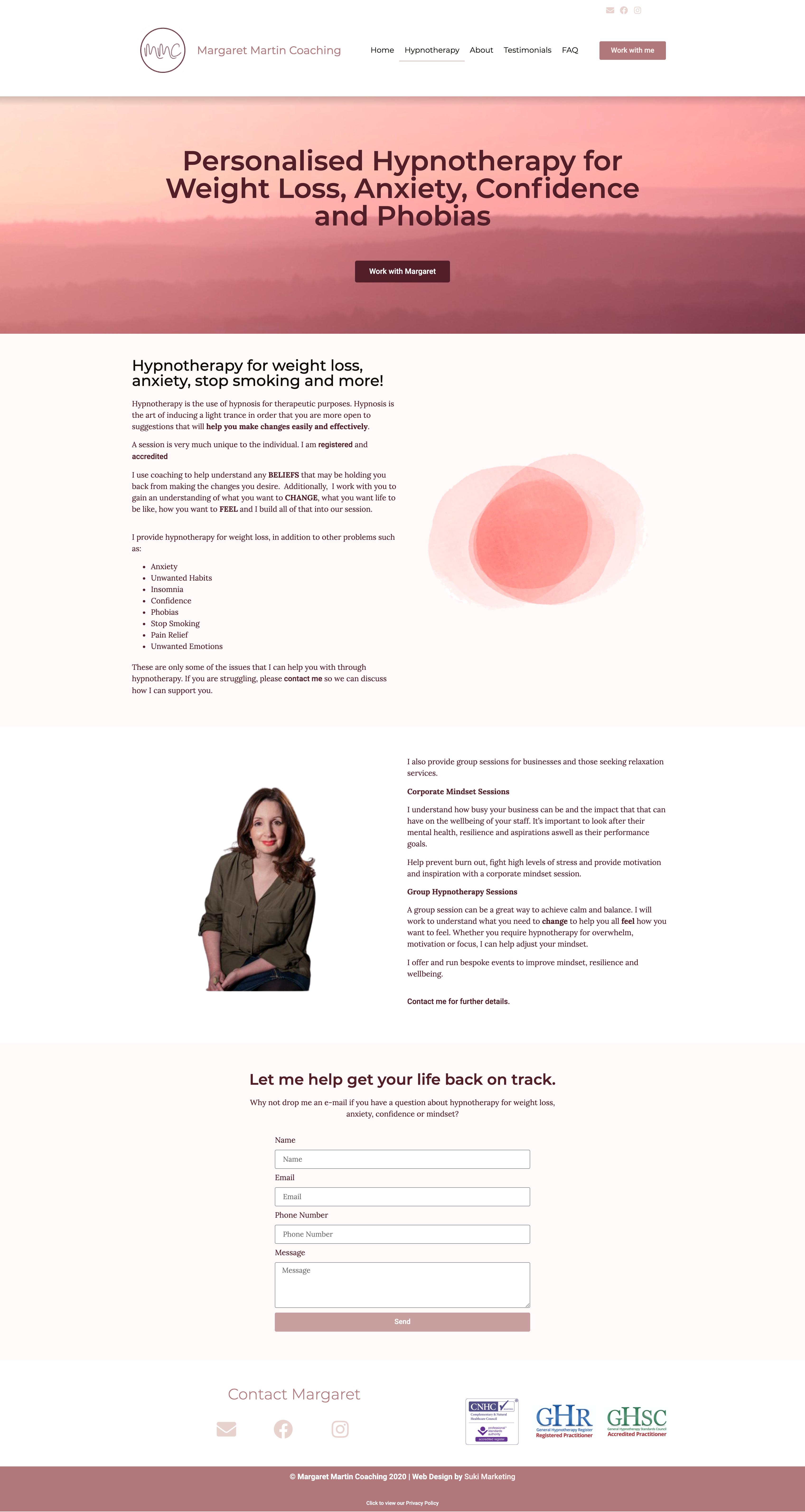 Web Design Margaret Martin Coaching
