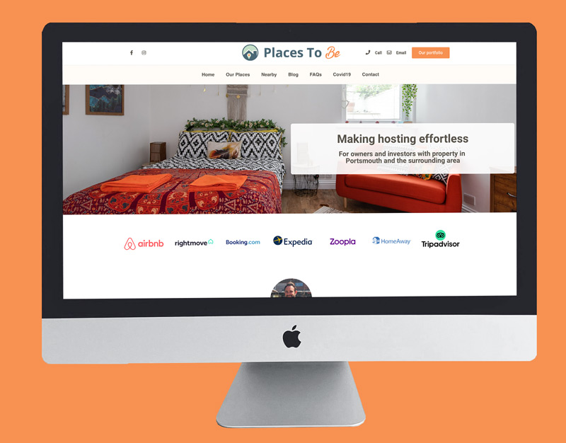 Places To Be Page Build Web Design