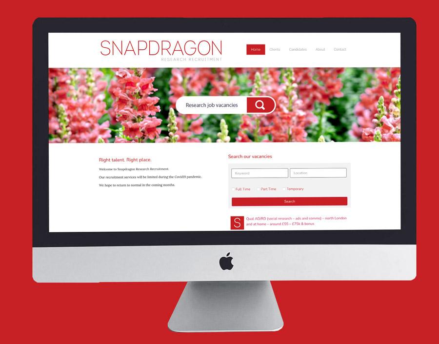 Snapdragon Recruitment Web Design Suki Marketing