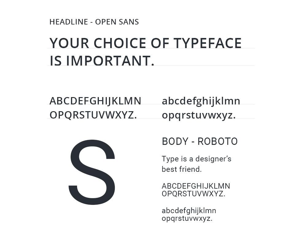 Synergy Healthcare Website Typography