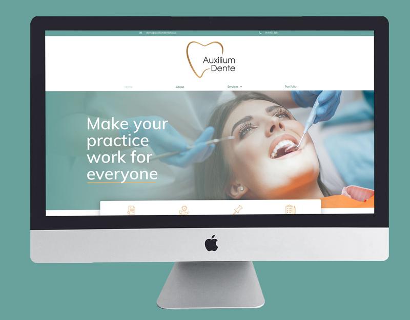 Auxilium Dente Web Design and Branding