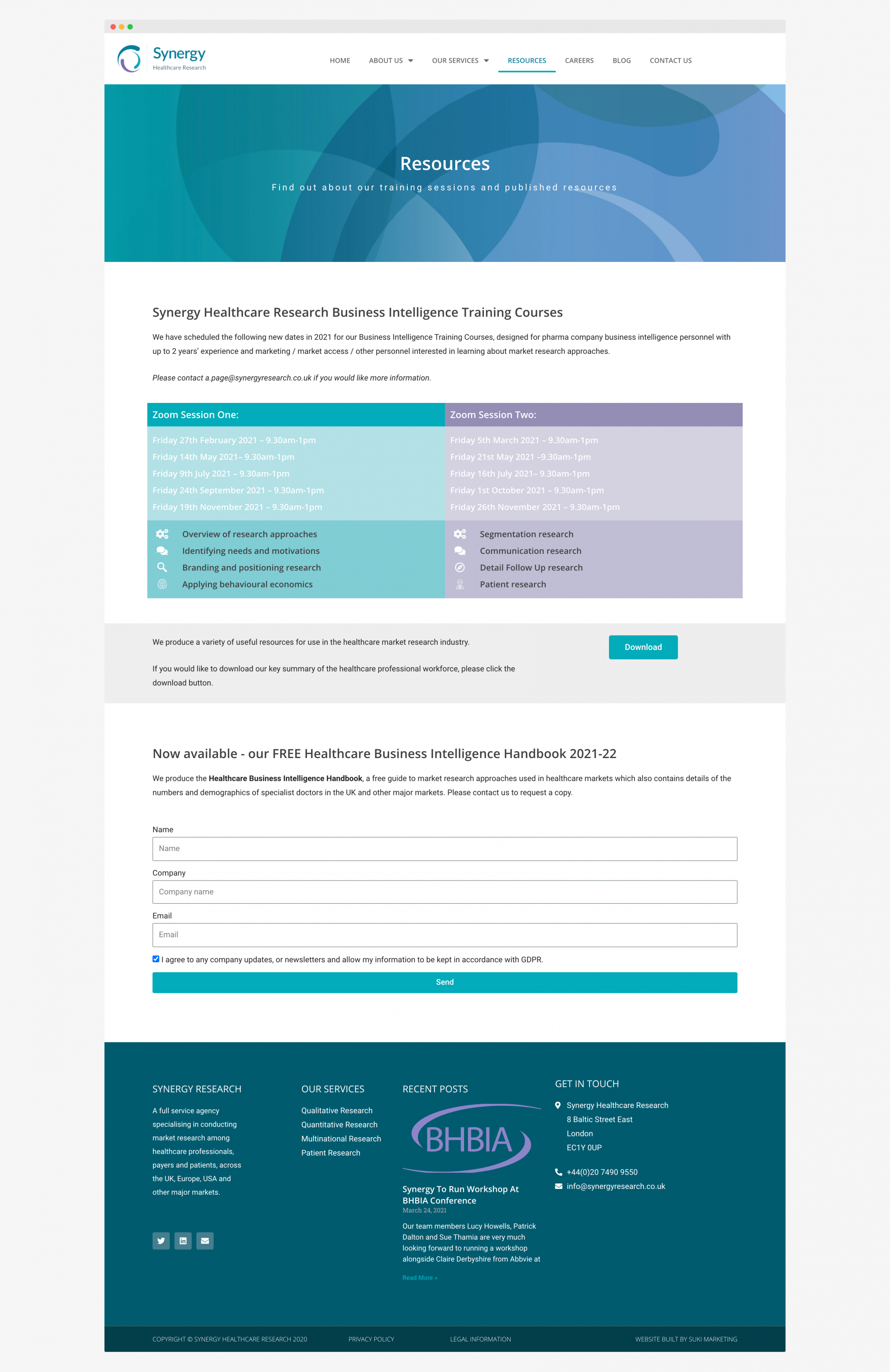 Synergy Market Research Healthcare Website Responsive Design
