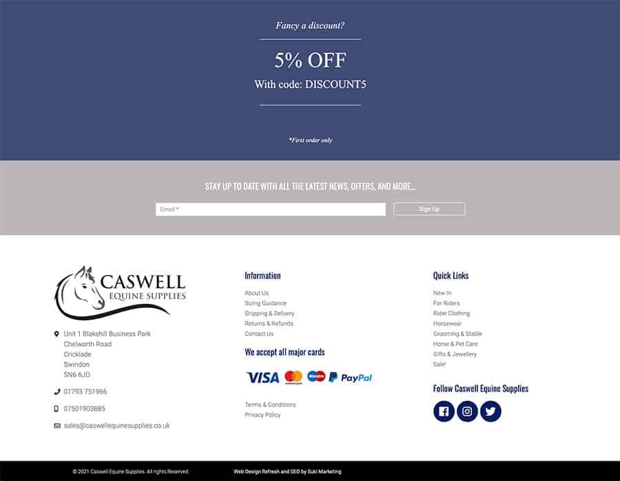 Caswell Equine Web Design Suki Marketing
